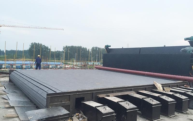 辽宁绿环辽中大热源4台100吨横梁安装现场