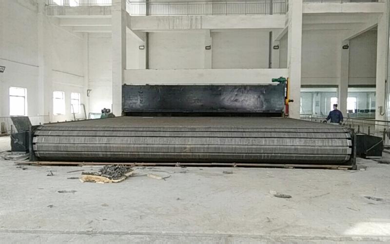青岛安泰100吨横梁环球体育彩票安装现场