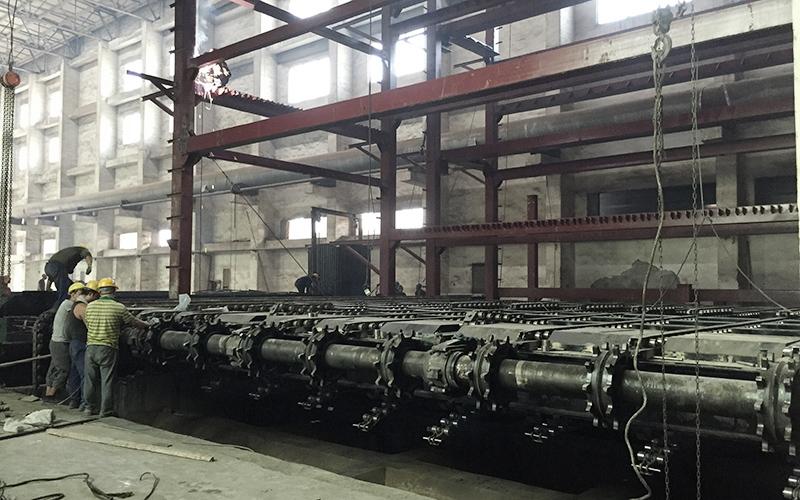 沈阳祥运4台130吨横梁beplay下载官网安装现场